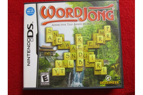 WordJong (Nintendo DS, DSI, 2DS, 3DS, NDS) board game ...