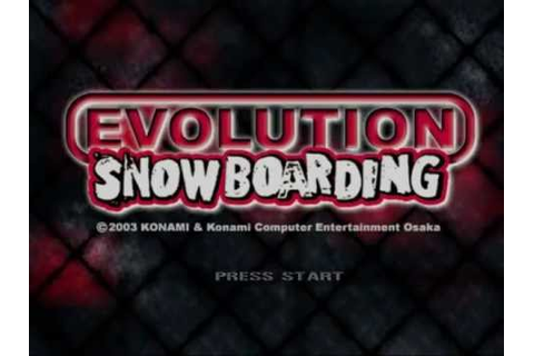 Nintendo GameCube Evolution Snowboarding (USA) - YouTube