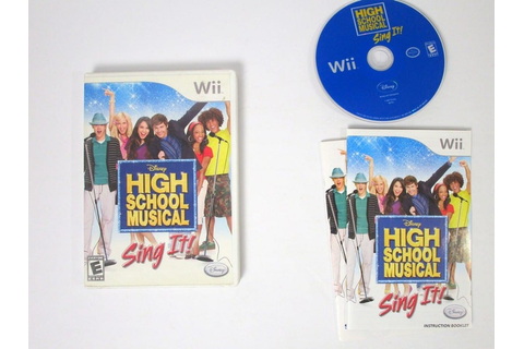High School Musical Sing It game for Wii (Complete) | The ...