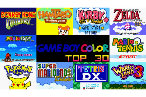 Game Boy Color Top 30 Games - YouTube