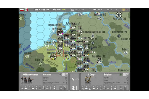 Commander Europe at War - Conquer Belgium in 1 Turn - YouTube