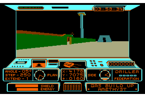 Driller (1987) by Incentive Amstrad CPC game