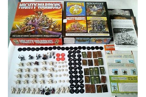 WARHAMMER MIGHTY WARRIORS Board Game 1991 - Advanced ...