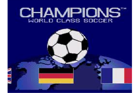 Champions World Class Soccer | SNESFUN Play Retro Super ...