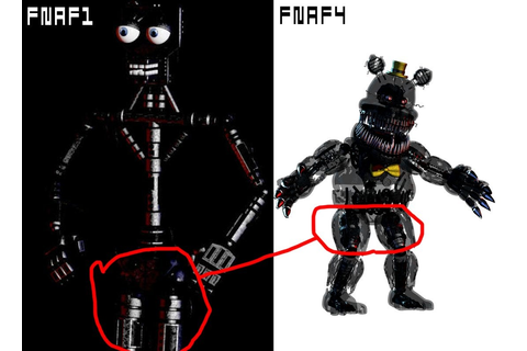 Most likely nothing, but the FNaF1 endoskeleton legs ...