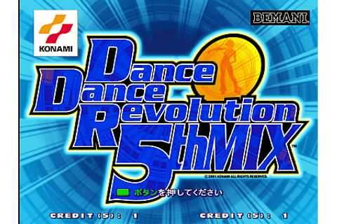 Dance Dance Revolution 5thMix arcade video game by Konami ...
