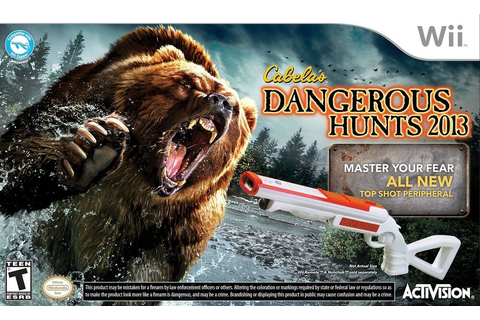 New Wii Cabela's Dangerous Hunts 2013 Game Gun Bundle Set ...