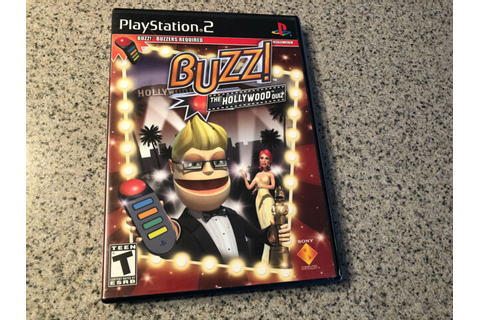 PLAYSTATION 2 BUZZ! THE HOLLYWOOD QUIZ GAME WITH MANUAL ...