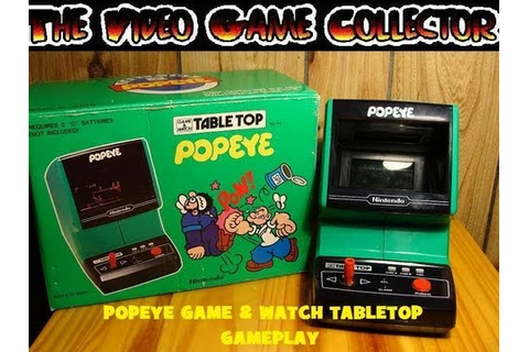 POPEYE GAME & WATCH TABLETOP GAMEPLAY NINTENDO - YouTube