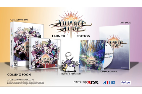 Atlus Unveils The Alliance Alive Launch Edition for the ...