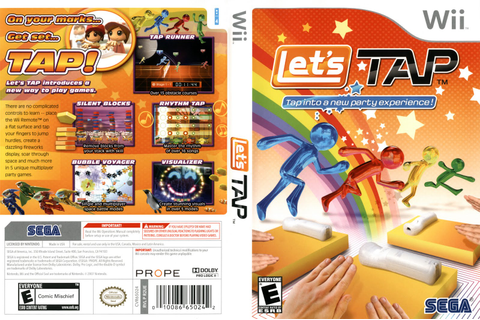 Games Covers: Let's Tap - Wii