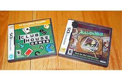 LOT 2 Nintendo DS Clubhouse Games Mystery Case Files ...