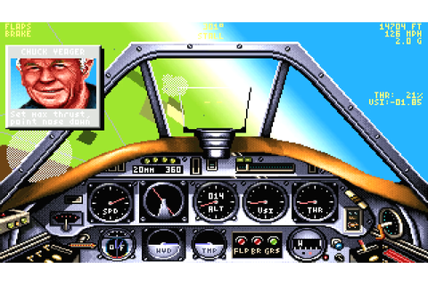Chuck Yeager's Air Combat Download Game | GameFabrique