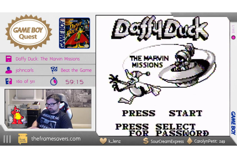 Game Boy Quest #161 - Daffy Duck: The Marvin Missions ...