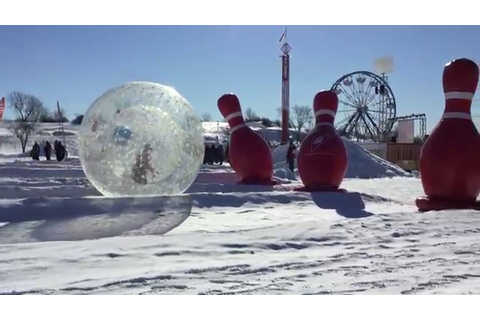Giant Bowling Game at Quebec City Winter Carnival - YouTube