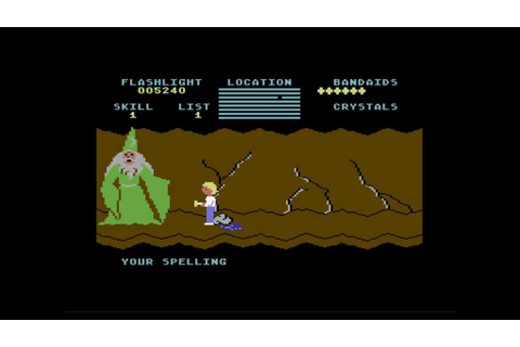 Let's Play BLIND: Cave of the Word Wizard (C64) - YouTube