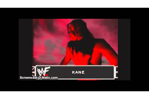 Kane's Entrances in WWE Video Games - YouTube