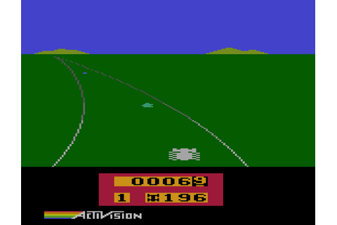 Game review: Activision's Enduro for #Atari 2600 - A great ...