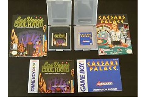Nintendo Game Boy Caesars Palace AND Las Vegas Cool Hand ...