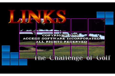Links: The Challenge of Golf (1990) MS-DOS game