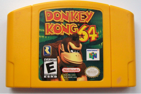N64 Donkey Kong 64 for Nintendo 64 RARE Yellow Cartridge