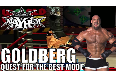 WCW Mayhem - Goldberg - Full Quest For The Best Mode ...