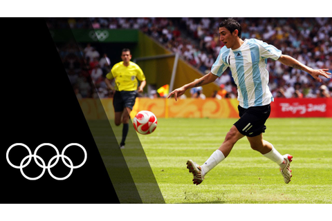 Top Olympic Football Goals - YouTube