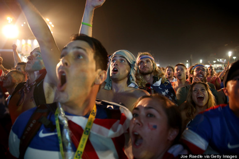 Fans Go Wild Reacting To Stunning U.S. World Cup Win ...