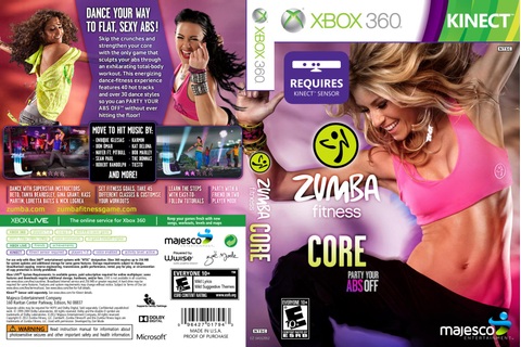 Games Covers: Zumba Fitness Core - Xbox 360
