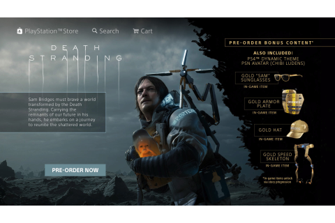 Death Stranding pre-order promo appears on PlayStation ...
