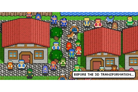 3D Dot Game Heroes details a 2D transformation - Gematsu