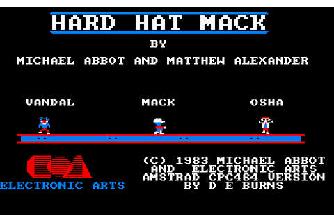 Hard Hat Mack (1985) by Ariolasoft Amstrad CPC game