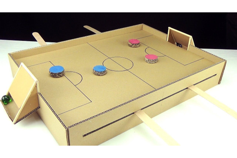 DIY MAGNETIC FOOTBALL SOCCER TABLE GAME FROM CARDBOARD ...