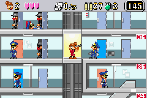 Elevator Action Old & New (2002) by Taito GBA game