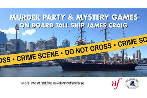 Murder Party and Mystery Games onboard Tall Ship James ...
