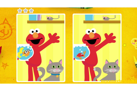 Sesame Street Spot The Difference Animals Children Game ...