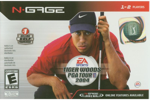 Tiger Woods PGA Tour 2004 (2004) N-Gage box cover art ...