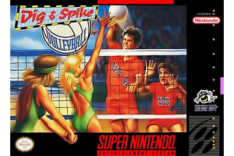 Dig and Spike Volleyball SNES Super Nintendo