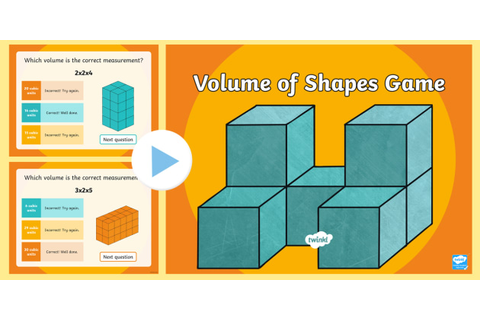 Volume of Shapes PowerPoint Game - volume, cube, cubic ...