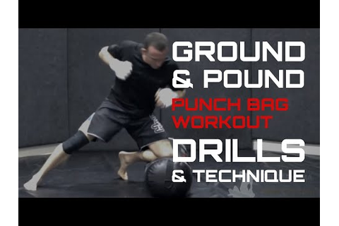 Training MMA Ground & Pound On A Punch Bag - YouTube