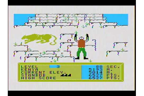 Alpiner (TI-99/4A) gameplay footage [Speech Synthesizer ...