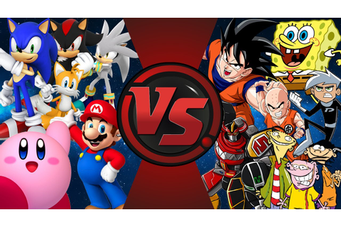 VIDEO GAMES vs CARTOONS! (Sonic, Mario, Kirby vs SpongeBob ...
