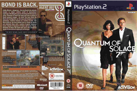 007 JAMES BOND IN QUANTUM OF SOLACE Ps2 Game 2008 ...