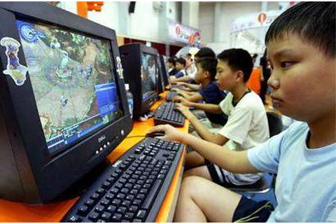 Chinese kids playing online computer games | A Shanghai ...