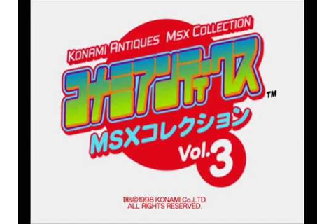 Konami Antiques MSX Collection 3 - Game Select - YouTube