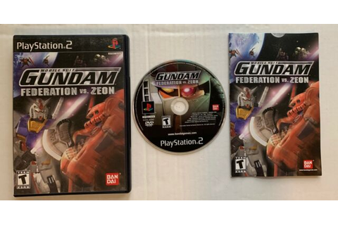 Mobile Suit Gundam Federation vs Zeon Playstation 2 PS2 ...