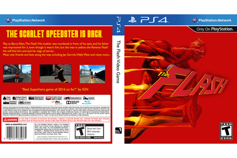 Viewing full size The Flash: Video Game box cover