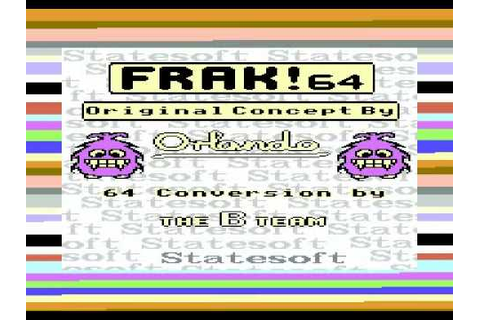 FRAK COMMODORE 64 C64 TAPE GAME LOADING SCREEN - YouTube