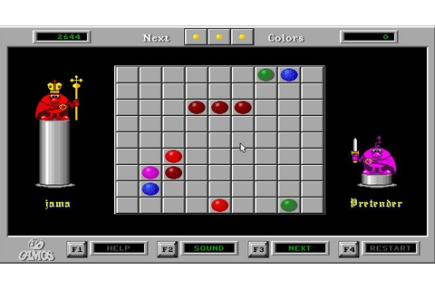 Download Color Lines puzzle for DOS (1992) - Abandonware DOS