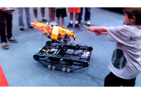 Nerf Gun Robot - YouTube